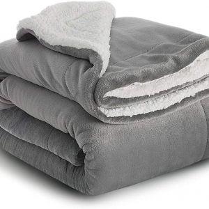 Sherpa Fleece Reversible Blanket